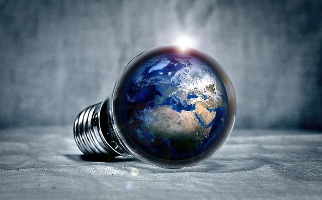 planeta v žárovce
