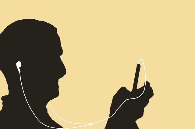 Počúvanie hudby, silueta.png